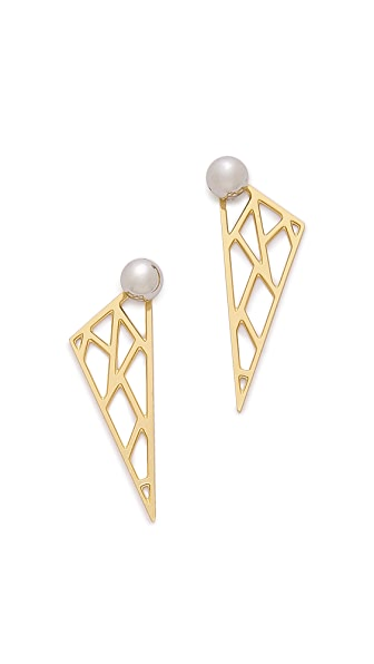Joomi Lim Triangle Back Stud Earrings