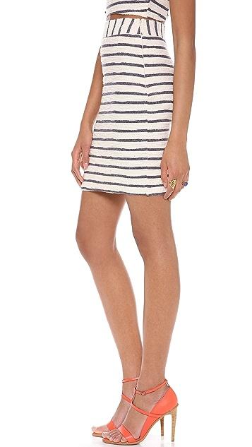 J.O.A. Striped Skirt