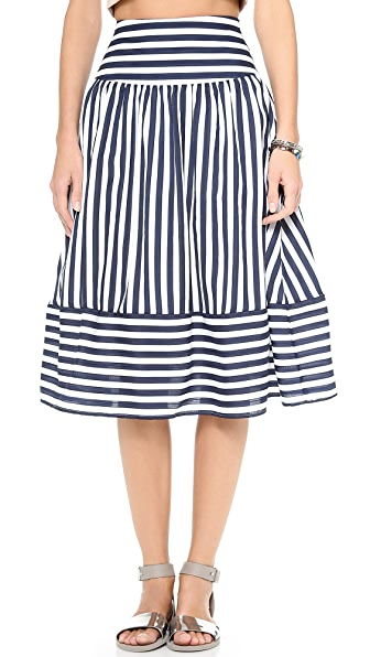 J.O.A. Striped Skirt