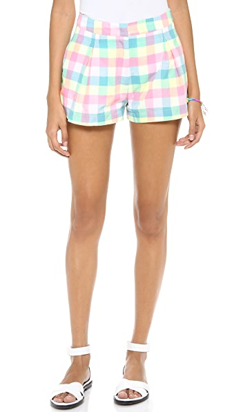 J.O.A. Plaid Shorts