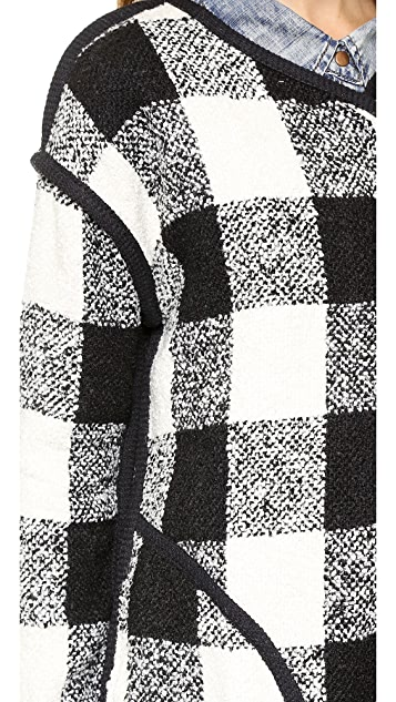 J.O.A. Checker Coat with Black Binding