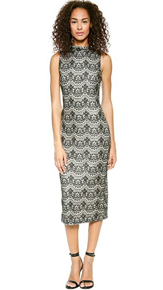 J.O.A. Lace Bonded Knit Dress