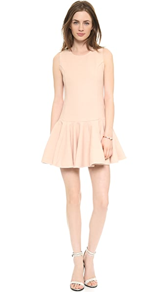J.O.A. Neoprene Pleated Hem Dress
