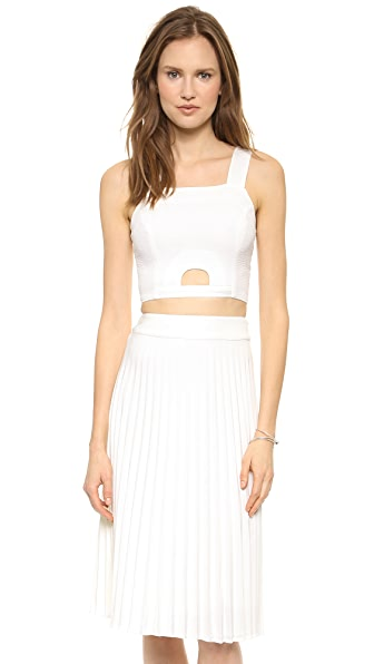 J.O.A. White Crop Top