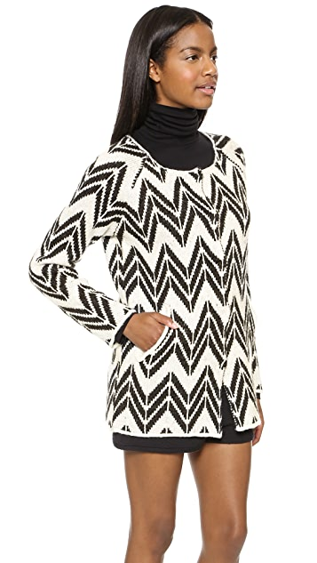 J.O.A. Chevron Stripe Cardigan
