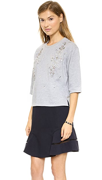 J.O.A. Jewel Embellished Sweatshirt