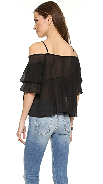 J.O.A. Tiered Off Shoulder Top