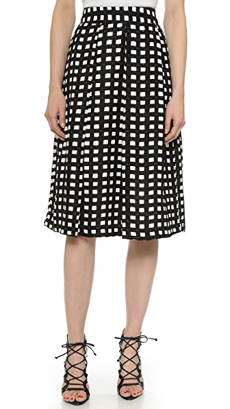 J.O.A. Checkered Midi Skirt | SHOPBOP SAVE UP TO 25% Use Code: EVENT17