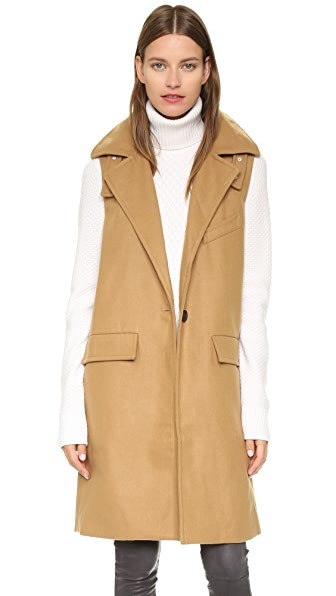 J.O.A. Sleeveless One Button Coat