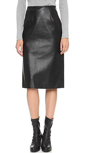 J.O.A. Faux Leather Pencil Skirt | SHOPBOP