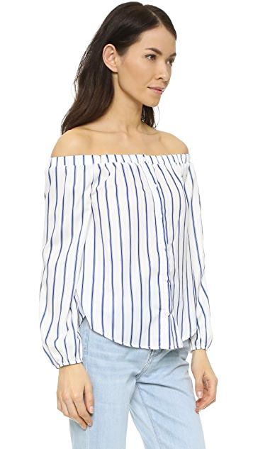 J.O.A. Stripe Blouse