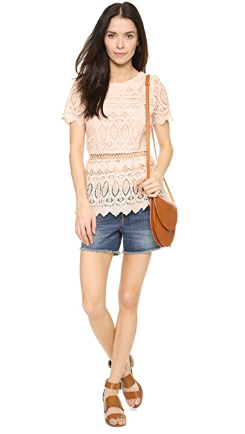 J.O.A. Lace Blouse