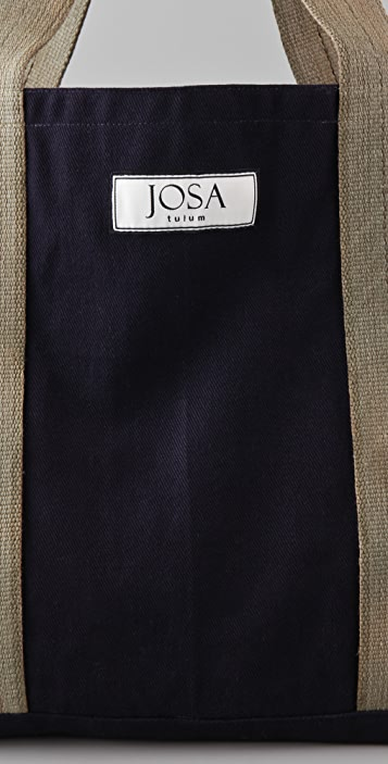 JOSA tulum Brushed Canvas Beach Tote