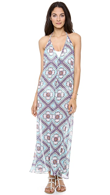 JOSA tulum Low V Halter Cover Up Dress