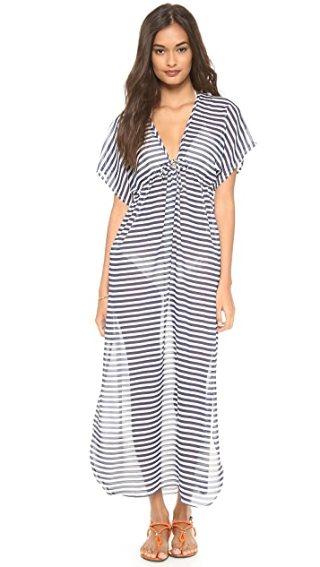 JOSA tulum Rustic Thin Stripe Cover Up Dress