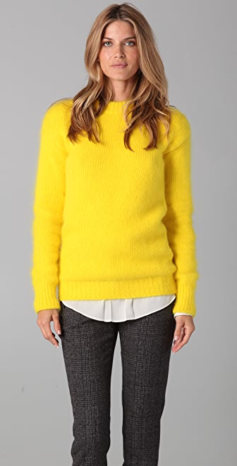 Joseph Crew Neck Angora Sweater