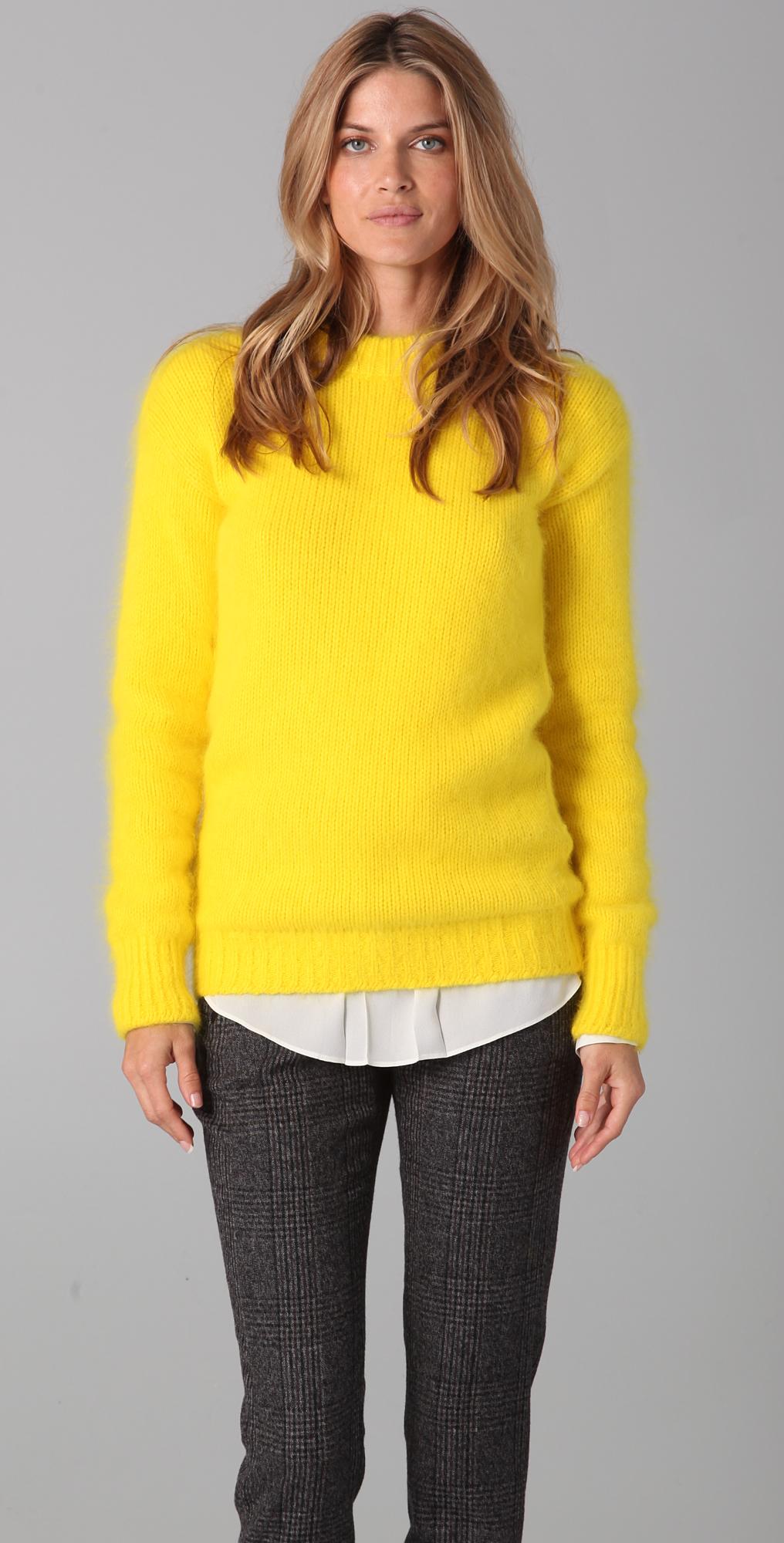 Joseph Crew Neck Angora Sweater | SHOPBOP