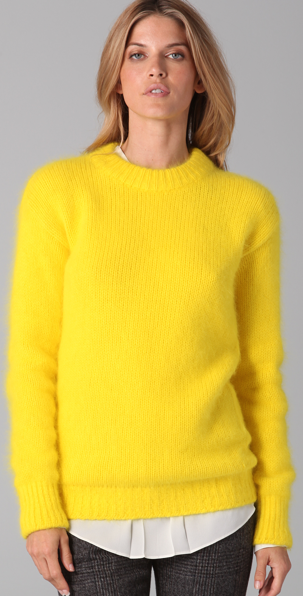 Joseph Crew Neck Angora Sweater | SHOPBOP