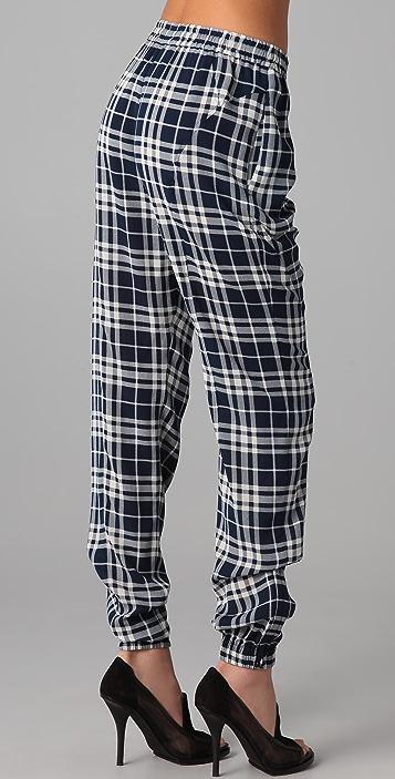 Joseph Staten Drawstring Plaid Pants