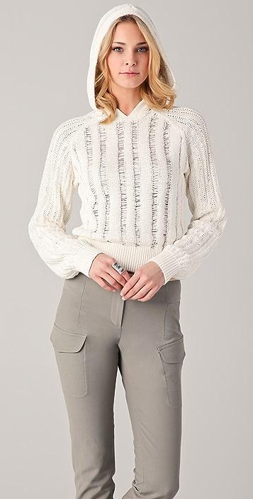 Joseph Cropped Hoodie Sweater