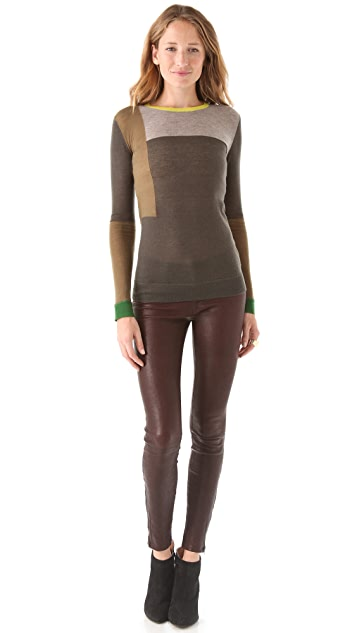 Joseph Patchwork Cashmere Sweater