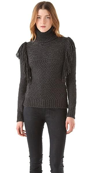 Joseph Fringe Roll Neck Sweater