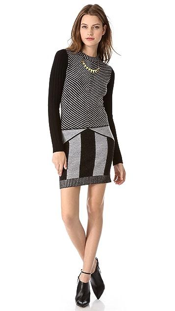 Joseph Shad Stripe Sweater Dress