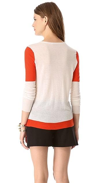 Joseph Colorblock Cashmere Sweater