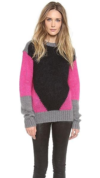 Joseph Intarsia Colorblock Sweater