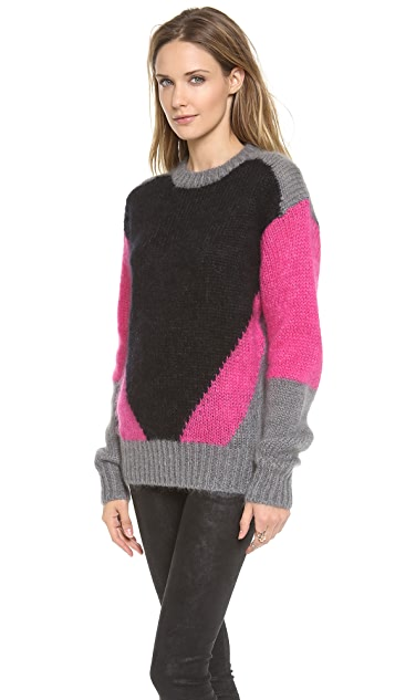Joseph Intarsia Colorblock Sweater