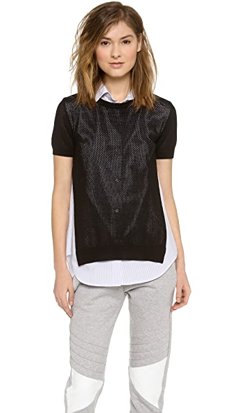 Joseph Rd Nk Short Sleeve Top