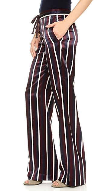 Joseph Satin Stripe Pajama Trousers