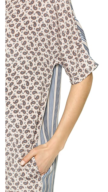 Joseph Nate Mixed Print T-Shirt Dress