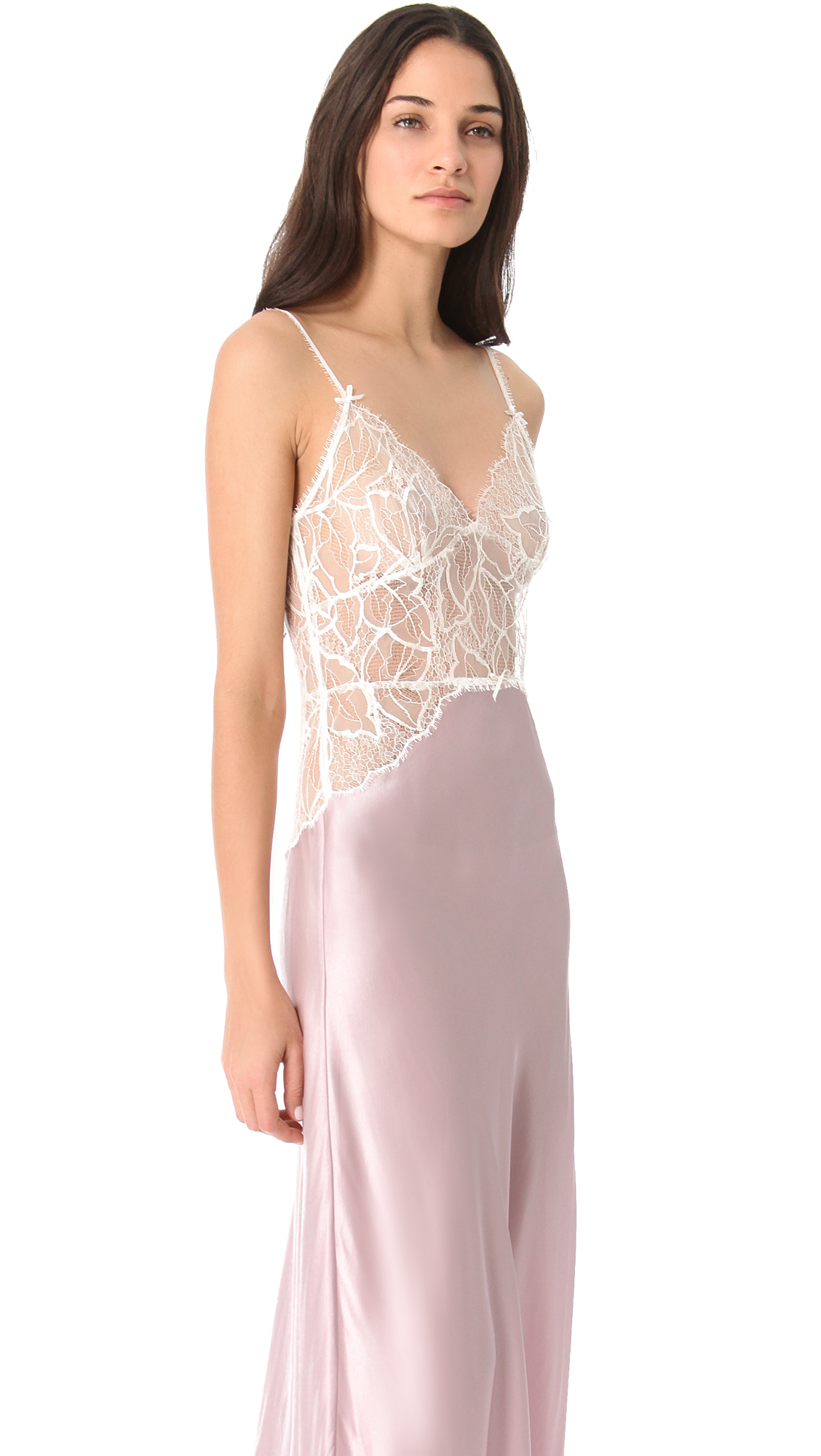 Jenny Packham Lace & Silk Nightgown | SHOPBOP