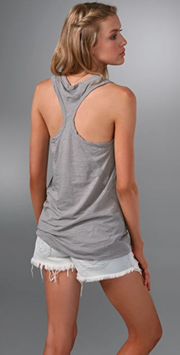 James Perse Clean Drape Tank with Racer Back