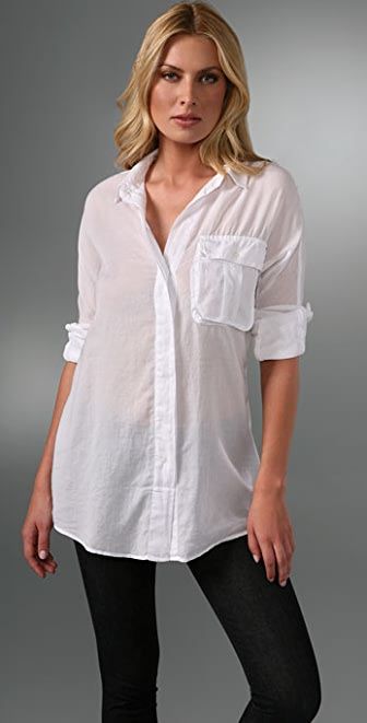 James Perse Rib Panel Dolman Shirt