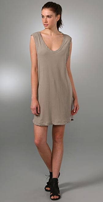James Perse Oversized Tank Dress with Slip