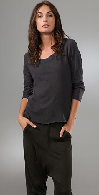 James Perse Raglan Scoop Top