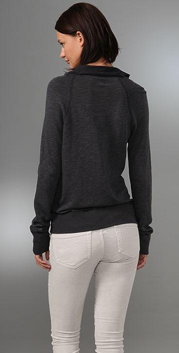 James Perse Funnel Vintage Sweatshirt