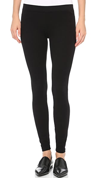James Perse Brushed Jersey Leggings - Black