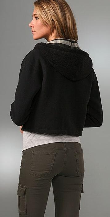 James Perse Reversible Hooded Jacket