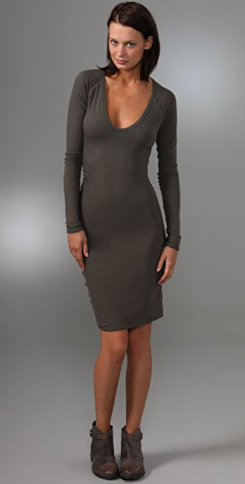 James Perse Long Sleeve Fitted Dress