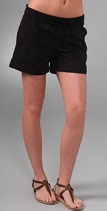 James Perse Contrast Waistband Shorts