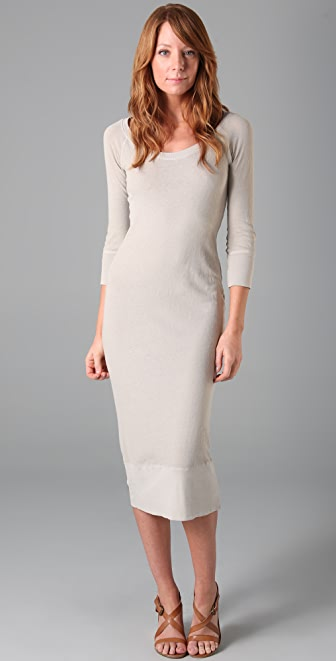 James Perse 3/4 Sleeve Surplus Dress