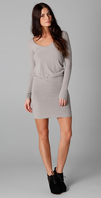 James Perse Deep V Mini Dress