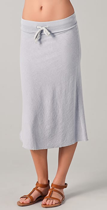 James Perse Pull On Flare Skirt