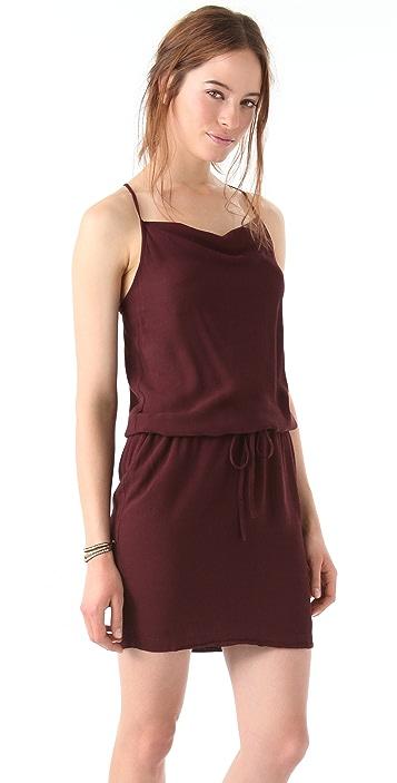James Perse Drape Back Drawstring Dress