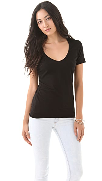 James Perse Skinny Neck Novelty Tee