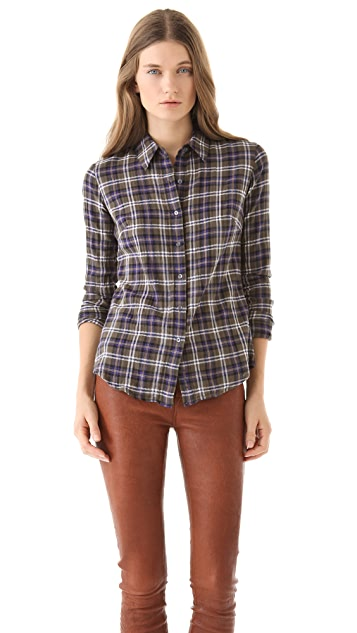 James Perse Tomboy Plaid Shirt
