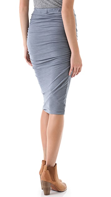 James Perse Ruched Pencil Skirt
